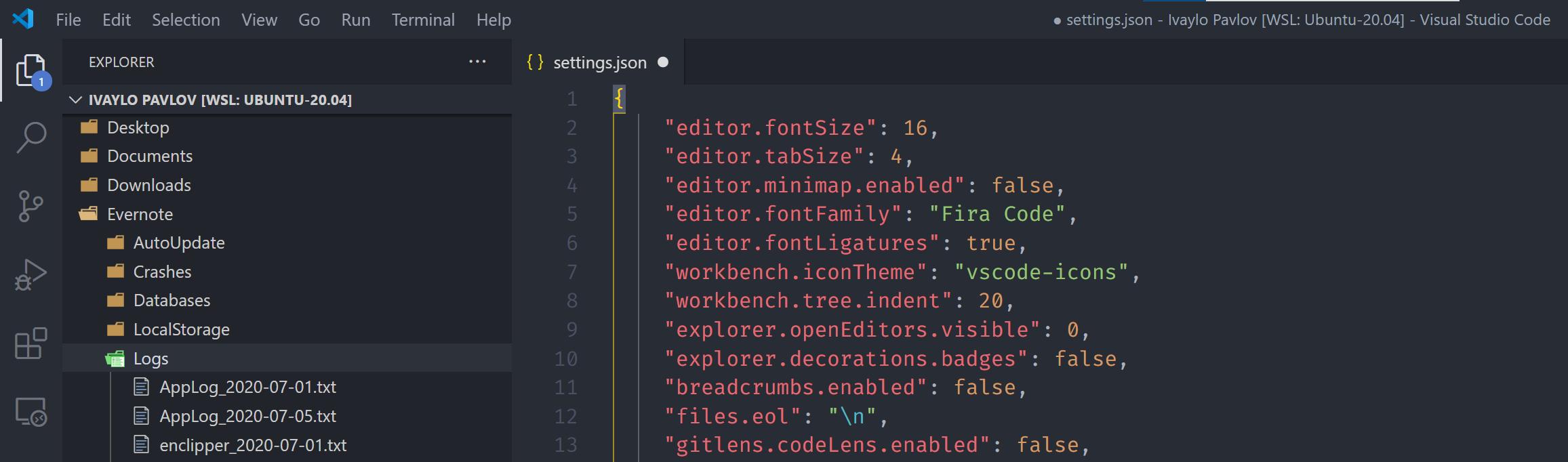 visual studio code minimalist file explorer