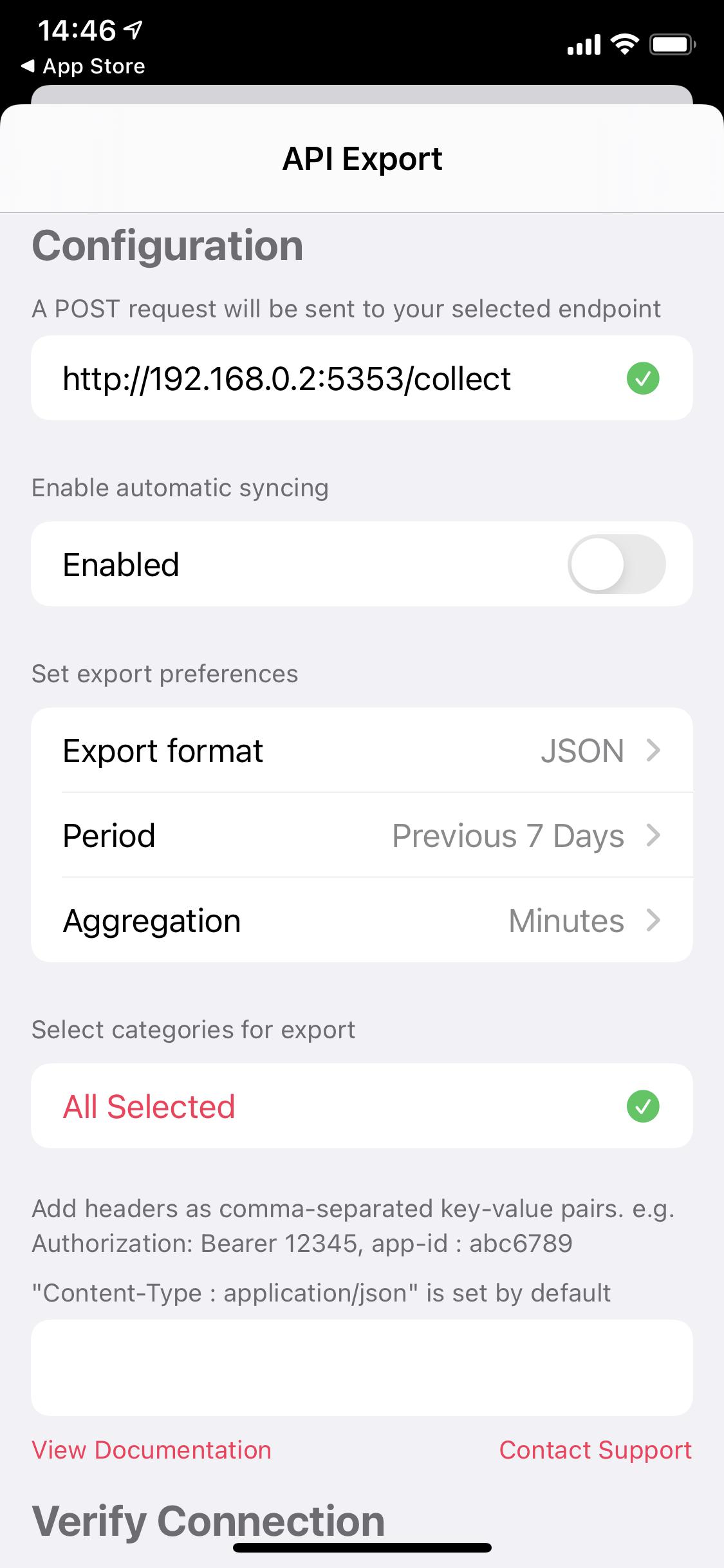 auto export healthkit data